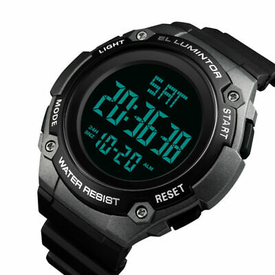 SKMEI Men's Sport Large Digital luminous Wrist Watch Military Chrono - Large Chrono Watch