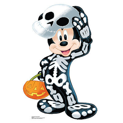 MICKEY MOUSE As Skeleton CARDBOARD CUTOUT Standee Standup Poster Halloween F/S - Mickey Mouse Cardboard Cutout