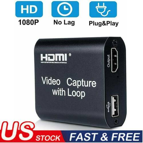 1080 USB HDMI Video Capture Card 1080P Game Record Live Stre