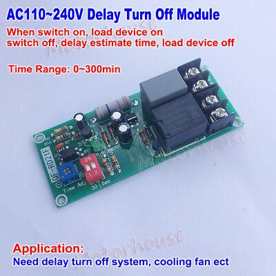 Ac 110v 220v 230v Delay Timing Timer Control Relay Turn Off Switch Module Fan