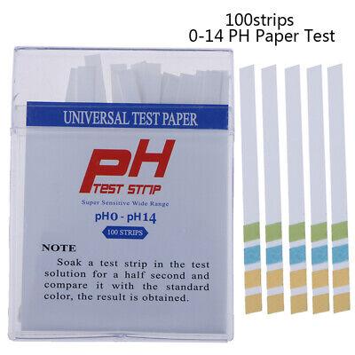100ph Indicator Test Strips 0-14 Paper Litmus Tester Laboratory Urine Salhexvp