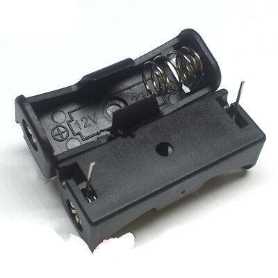 5Pcs 23A/A23 Battery (12V) Clip Holder 2 Pin Battery Holder Case Black