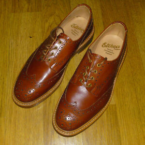 Trickers x Elthea 'Bourton Derby Brogue' Made in England, UK 9, Tan RRP £375 NEW