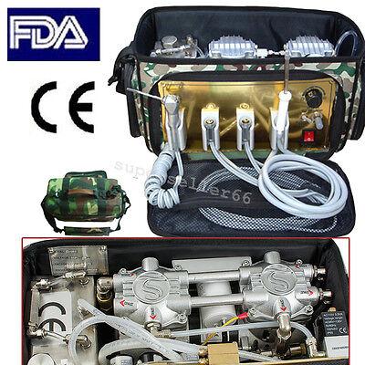 Dental Care Portable Dental Unit Air Compressor Suction Triple 3 Spray Syringe