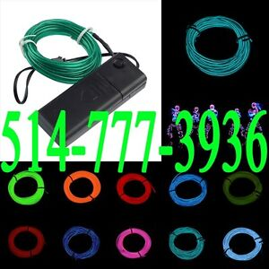 Neon Wire EL Flexible Tube Party RAVE Fil Néon 5m Light Effects