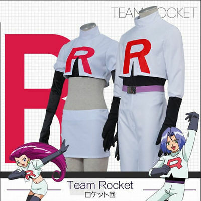 Anime Pokemon Cosplay Pocket Team Rocket Full Set Jessie James Costume Halloween - Team Rocket Jessie Halloween Costume