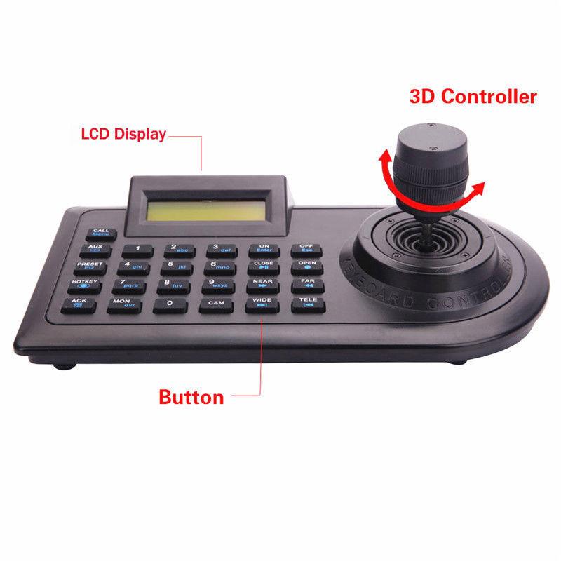 Three Dimensional 3D keyboard 3D Joystick Controller for PTZ Zoom HD CCTV Camera