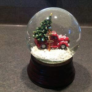 Eddie Bauer Home Red Pick Up Truck SnowGlobe