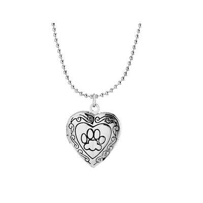 Herz DIY Foto Medaillon Halskette Foto Anhänger Halskette DAME Amulett Geschenk ()