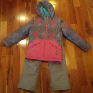 Habit de neige fille 7 ans inclus pantalon - snow suit girl