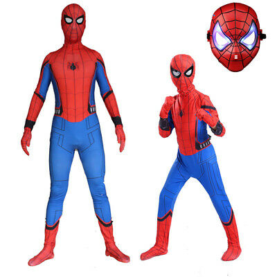 Kid Costume For Adults (2018 New Design Homecoming Spiderman Costume Tights Suit for Kids or Adult)