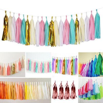 Paper Tassels Garlands DIY Bunting Birthday Wedding Party Baby Shower Decoration