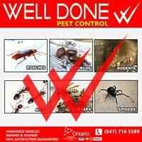 Well Done Pest Control Services Lowest prices GTA Area Coverage