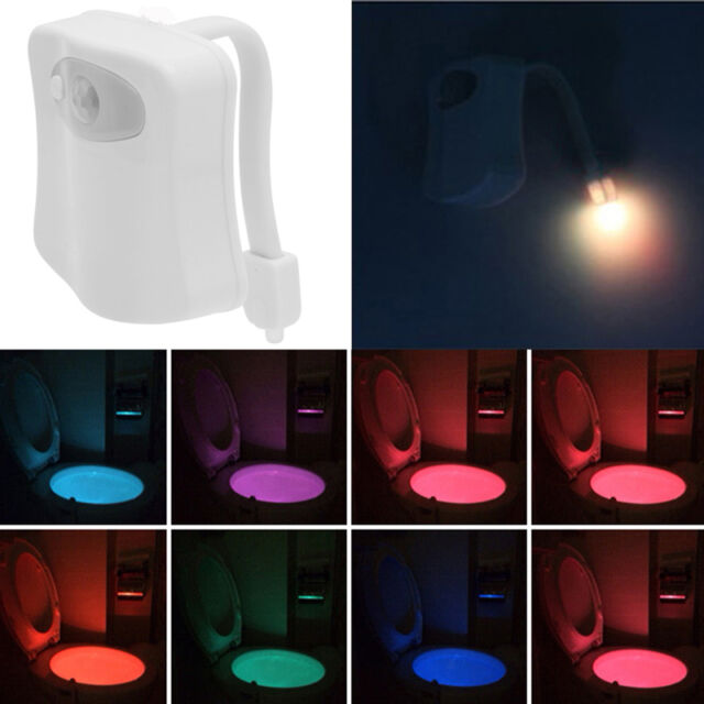 Bathroom Night Light led 8 color night light body motion sensor automatic toilet seat