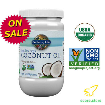 Organic Extra Virgin Coconut Oil Cold Pressed for Skin & Hair Care 14 Ounce, NEW Hair Pressing Oil