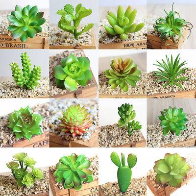 Artificial Green Plants Faux Succulent Cactus Aloe Home Garden DIY