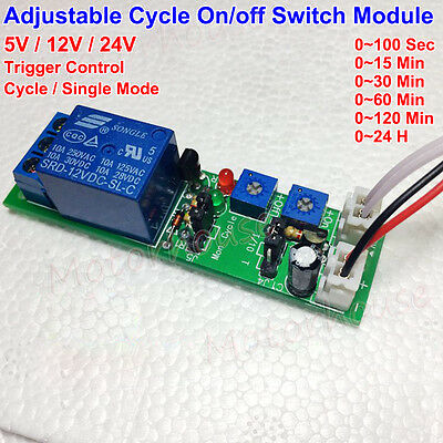 Adjustable Time Cycle Onoff Switch Trigger Delay Timing Control Relay Module
