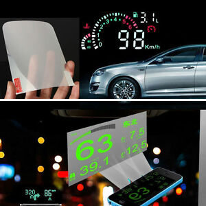 auto car suv front window windshield hud head up display reflective film 14x10cm ebay. Black Bedroom Furniture Sets. Home Design Ideas