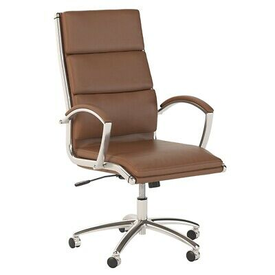 Scranton Co High Back Leather Executive Office Chair In Saddle