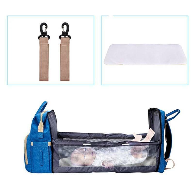 2 in 1 Multifunctional Folding Baby Mommy Backpack Portable