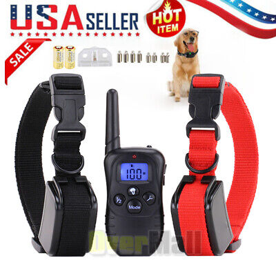 Dog Shock Collar With Remote Waterproof 4 Modes for Large 875 Yard Pet Training Dog Shock Collar Remote