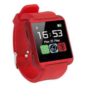 2017 Red Smartwatch iPhone Bluetooth Android IOS New Smart Watch