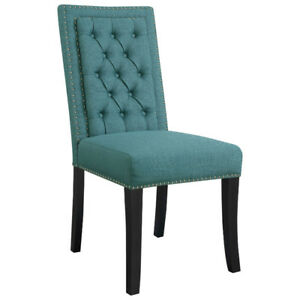 Eric Contemporary Polyester Dining Chair - Set of 2 - Teal