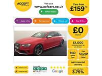 Red AUDI RS4 SPORTBACK 4.0 4.2 T FSI Petrol QUATTRO S-LINE FROM £159 PER WEEK!