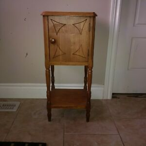 Antique wooden smoking table