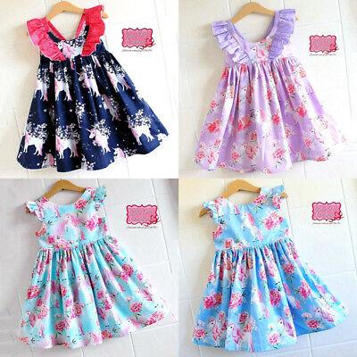 Flower Girl Princess Dress Toddler Baby Wedding Fancy Party Tutu Unicorn - Fancy Toddler Dresses