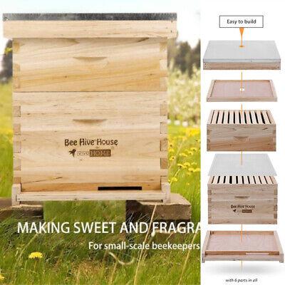 Beehive 20 Frame Complete Box 10 Deep-10 Medium W Metal Roof Queen Excluder
