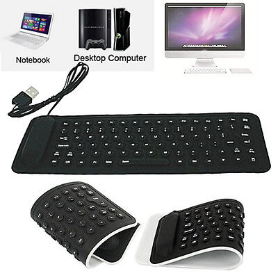 USB Mini Flexible Silicone Keyboard Foldable Keyboard For PC Laptop Notebook Hot