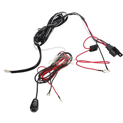 12V Universal Wiring Harness Kit Fog Light Driving Lamp