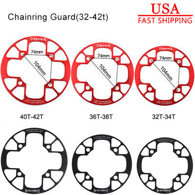 US 32T-42T MTB Road Bike Crankset Chainring Protect Cover Bolts Black/Red