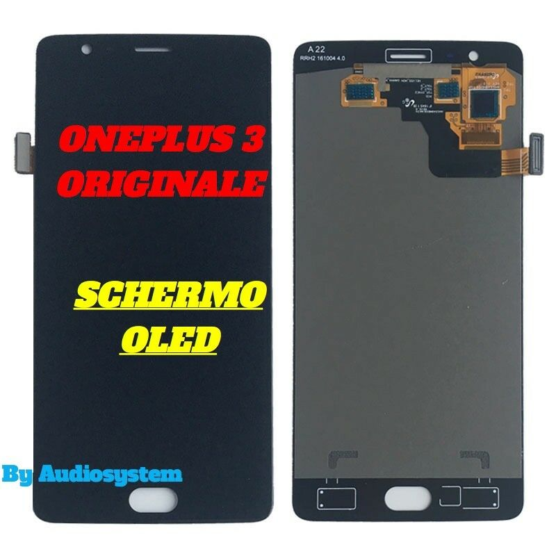 DISPLAY LCD SCHERMO OLED ORIGINALE ONEPLUS per 3 1+3 TOUCHSCREEN VETRO A3000