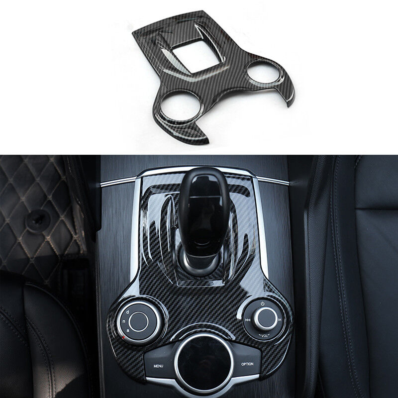 Carbon fiber ABS Switch Panel Cover Trim for Alfa Romeo Giulia Stelvio 2017 US