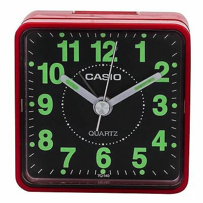 Casio Clock Travelers Beeper Analog Alarm Clock TQ140