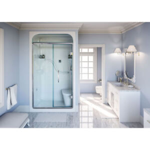 Mirolin SH4LS/RS Madison 4 Shower Stall With Seat White