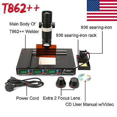 T862 Bga Rework Station Irda Welder Infrared Soldering Welding Machine Us Hot