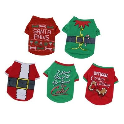 Christmas Pet Clothes Dog Santa Sweater Shirt Puppy Cat Pullover Hoodies Costume - Pet Christmas Clothes