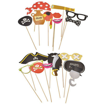 9 Pcs/Set Pirate Theme Party Birthday DIY Photo Booth Props Wedding - Theme Pirate