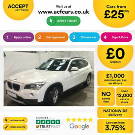 White BMW X1 2.0TD 2012 sDrive 20d FROM £25 PER WEEK!