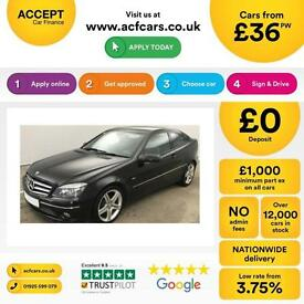 BLACK MERCEDES-BENZ CLC 220 2.1 CDI 1.6 SPORT 1.8 SE Coupe FROM £36 PER WEEK