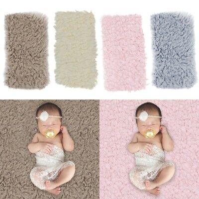 Newborn Unisex Baby Photo Props Photography Soft Faux Fur Quilt Warm qas A Baby Newborn Quilt