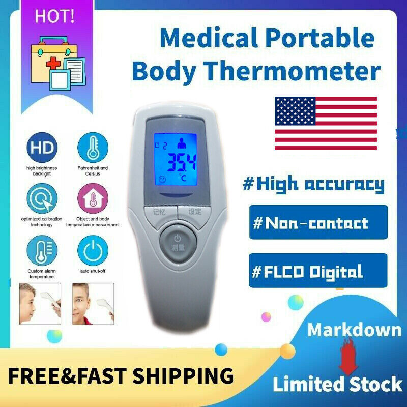 Non-Contact Thermometer Gun LCD Digital  fever Forehead Baby Adult Infrared US