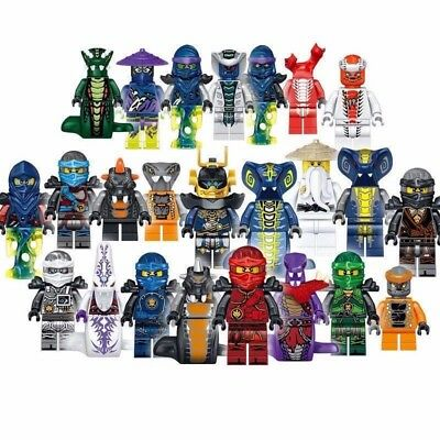 24 Sets Ninja Ninjago Jay Cole Kai Pythor Lloyd Chen Mini figures Fits LEGO Toys