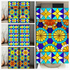 Church Stained Glass Stickers DIY Self-adhesive Window ...