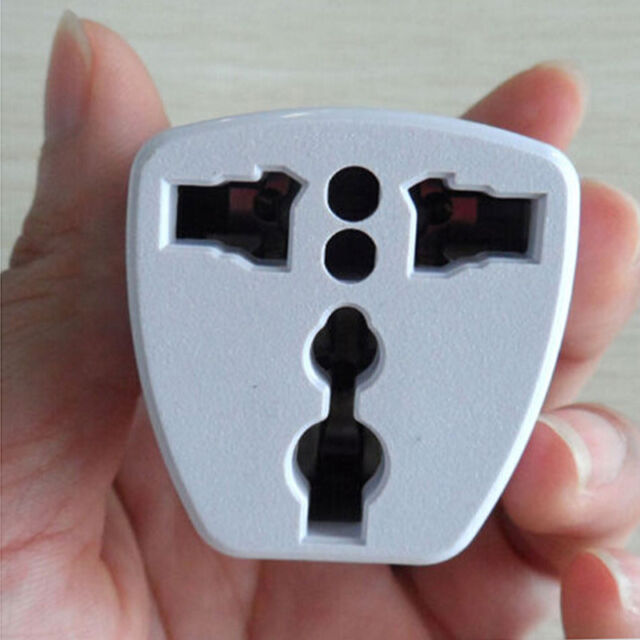 New Universal UK/US/AU to EU European Travel Power Adapter Plug converter