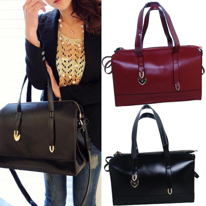 Bag - Women Large Leather Satchel Handbag Shoulder Messenger Crossbody Bag Tote Purse
