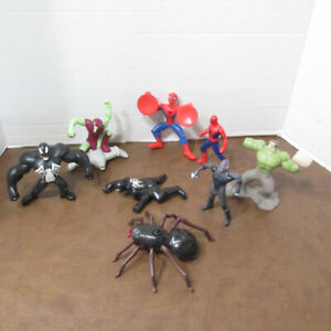 SPIDER-MAN¤VENOM¤¤SANDMAN 8 MARVEL FIGURINES SUPER HEROS